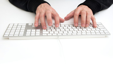 Typing a keyboard
