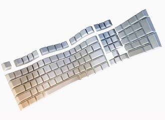 3d Computer Keyboard, Symbolic Illustration