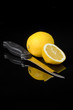 knife and lemon