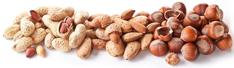 Group mixed nuts.