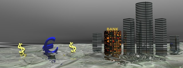 euro and buildings