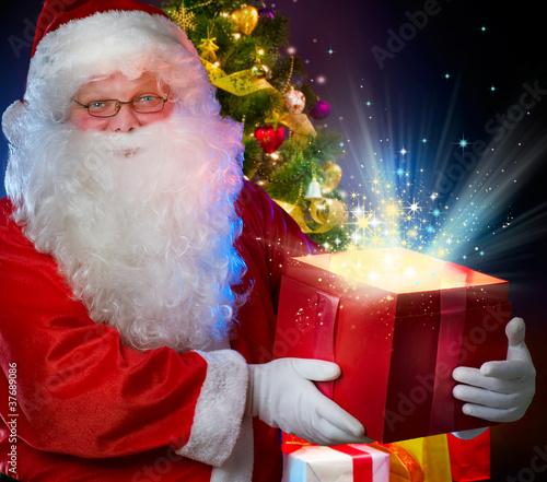 Santa Claus with Magic Gift