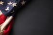 Leinwandbild Motiv Vintage American flag on a chalkboard