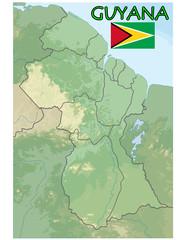 national emblem guyana map flag coat
