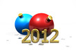 2012 with red and blue baubles