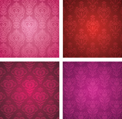 Set of a Valentine's day wallpapers.