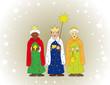 Sternsinger als Heilige Drei Könige