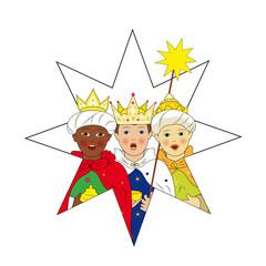 Kinder als Sternsinger