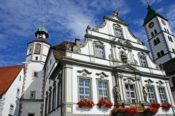 WANGEN im Allägäu mit Rathaus in der Mitte