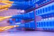 communication and internet network server room