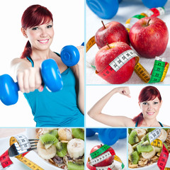 Fitness and healthy life-style collage