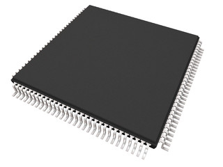 Microchip  isolated on white