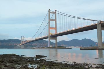 Tsing Ma Bridge at day
