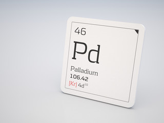Palladium - element of the periodic table