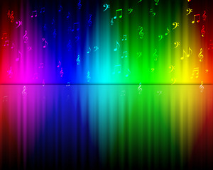 The background color of the rainbow.