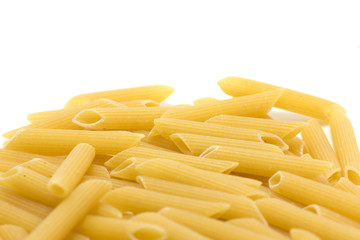 Penne rigate on white 2