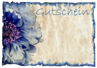 Gutschein blue Flower