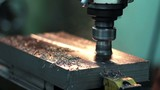 production of lathe in a factory poster