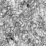 Fototapety Pen ink strokes seamless pattern