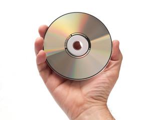 Mano che tiene dvd