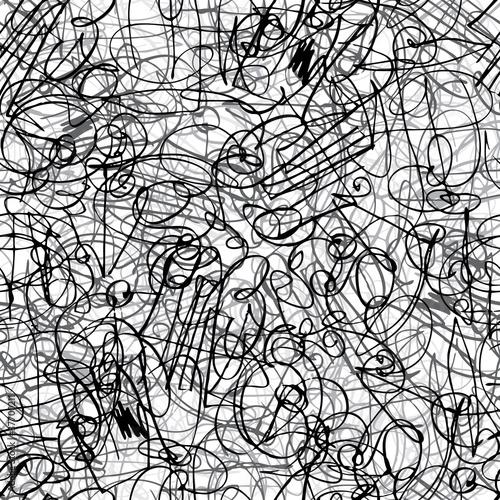 In de dag Kunstmatig Pen ink strokes seamless pattern