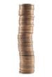 Montón de monedas de 2 céntimos de euro, silueteada