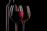 Fototapety vin bouteille verre