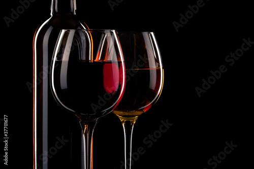 Papiers peints Bar vin bouteille verre