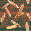 Tribal surfboards seamless pattern
