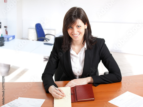 Businesswoman at her desk