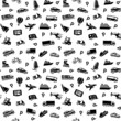 Seamless background, transport icons, wallpaper