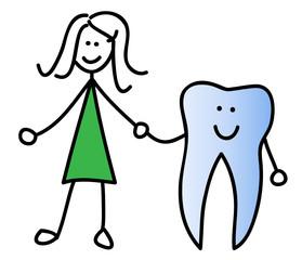 Mädchen mit Zahn