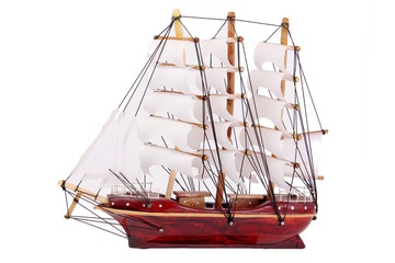 model of ship isolated