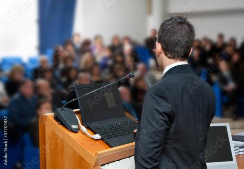 Leinwanddruck Bild Conferenza