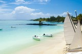 Idyllic tropical beach in the paradise island of Mauritius