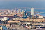 Aerial view of Barcelona from Montjuic poster