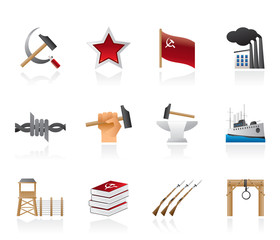 Communism, socialism and revolution icons
