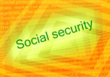 Social security text poster