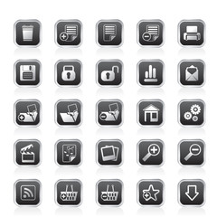 25 Simple Realistic Detailed Internet Icons
