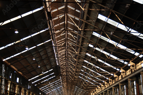 the roof of the factory