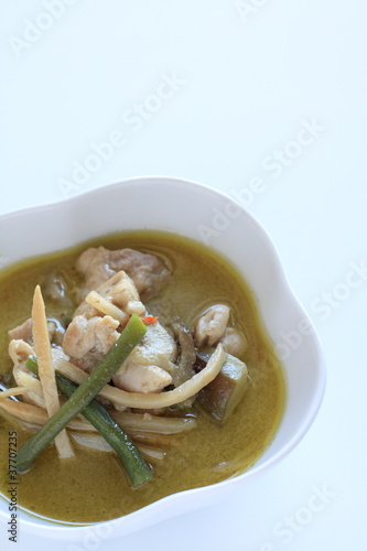 thai cuisine, chicken curry