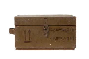 green army box of ammunition