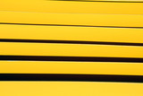 yellow iron paint linear fence poster