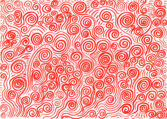 Red spirals bacjground