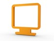3d Icon Monitor orange