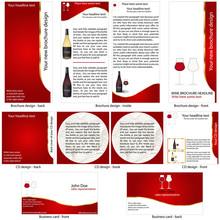 Wine stationary template