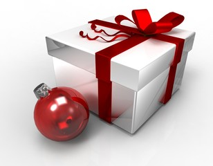 Коробка подарочная с шаром
