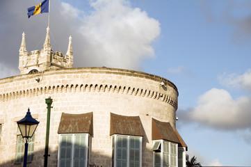 Parliament building Gothic architecture national flag Bridgetown