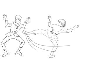 Karate couple