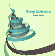 Paper Ribbons - Christmas Tree